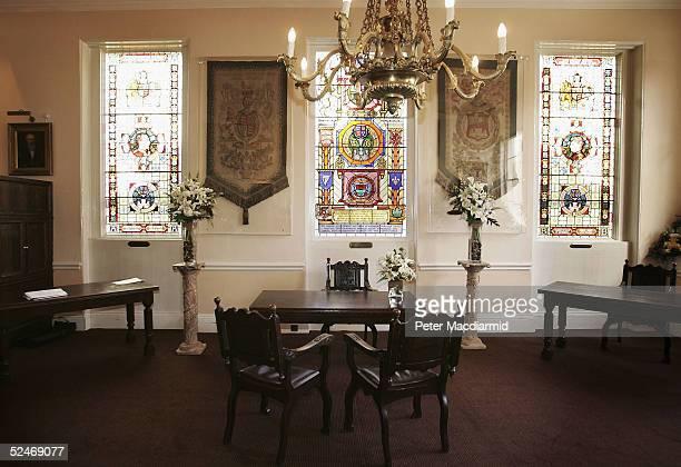 The Ascot Room is seen in the Guildhall on March 23, 2005 in Windsor, England. HRH Prince Charles and Camilla Parker-Bowles will marry in a civil...