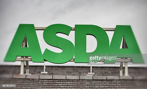 The Asda sign is displayed outside a branch of the supermarket on November 18 2015 in Bristol England As the crucial Christmas retail period...