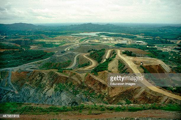 The Ashanti Goldfields strip mine in Obuasi in the Ashanti Region in Ghana, West Africa. The Ashanti Goldfields are home to the single richest gold...