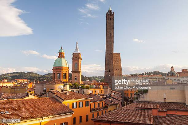 The Asinelli and Garisenda towers in Bologna
