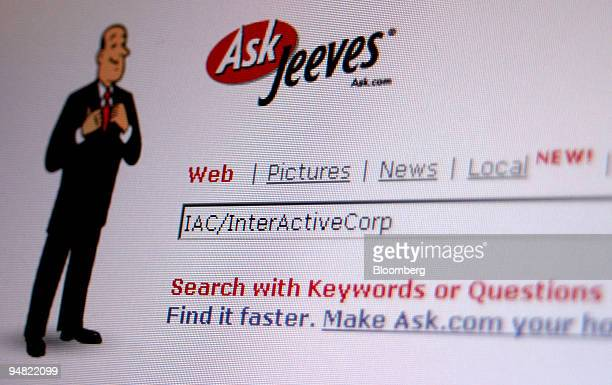 The Ask Jeeves home page is seen in Frankfurt Germany Monday March 21 2005 Shares of Ask Jeeves Inc an Internet search engine rose 23 percent after...