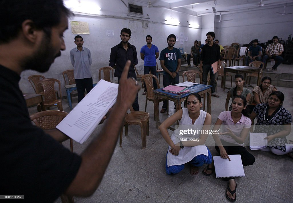 The Asmita theatre group rehearse for the play Ek Mamooli Aadmi directed by Arvind Gaur in New Delhi on May 19, 2010.