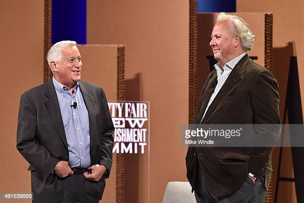 The Aspen Institute President and CEO Walter Isaacson and Vanity Fair EditorinChief Graydon Carter speak onstage at the Vanity Fair New Establishment...