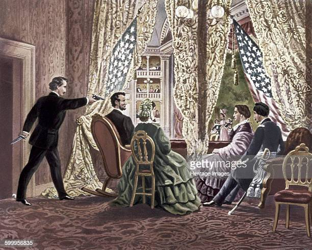 The Assassination of Abraham Lincoln 1865 Private Collection Artist Anonymous
