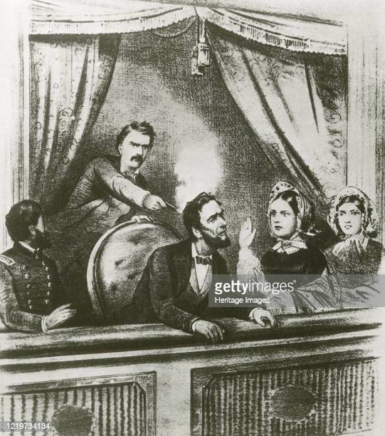 The assassination of Abraham Lincoln Ford's Theatre Washington 14 April 1865 Artist Unknown