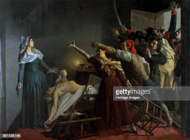 The Assassination of Jean-Paul Marat, 1880. Found in the Collection of Musée de La Piscine, Roubaix.