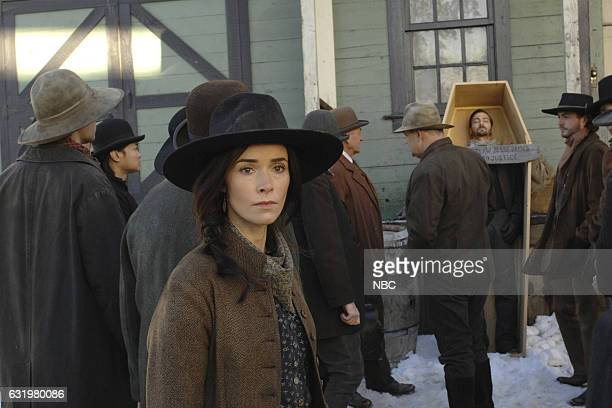 "The Assassination of Jesse James"" Episode 111 -- Pictured: Abigail Spencer as Lucy Preston --"