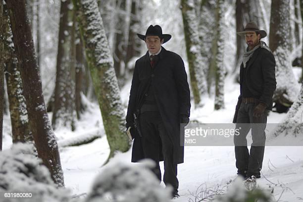 "The Assassination of Jesse James"" Episode 111 -- Pictured: Goran Visnjic as Garcia Flynn, Daniel Lissing as Jesse James --"