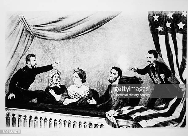 The Assassination of President Abraham Lincoln Lithograph Currier Ives 1865