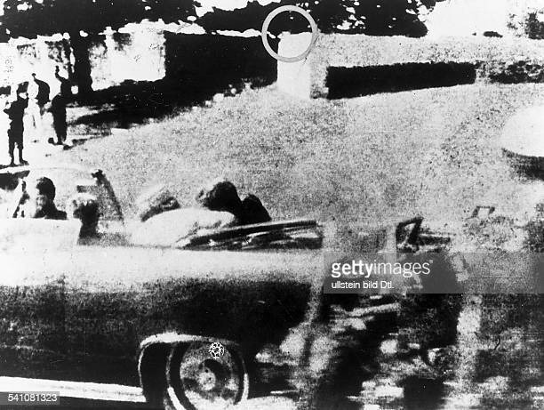 KENNEDY ASSASSINATION 1963 The assassination of President John F Kennedy in downtown Dallas 22 November 1963Polaroid photo by Mary Moorman taken a...
