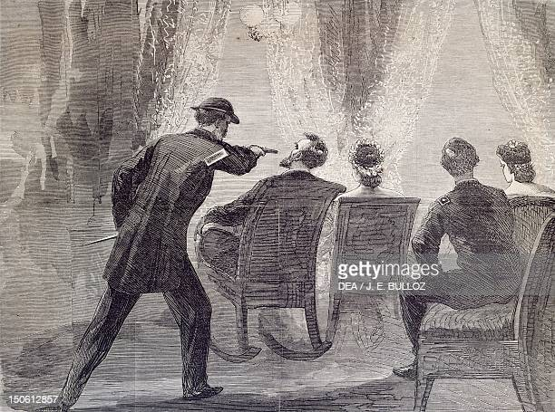 The assassination of President Lincoln at Ford's Theatre in Washington the evening of April 14 1865 The United States 19th century