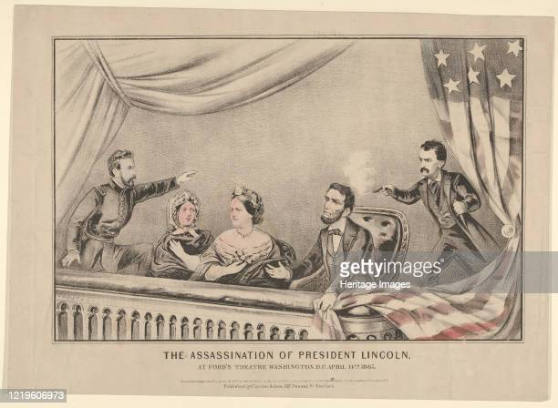 The Assassination of President Lincoln at Ford's Theatre Washington DC April 14th 1865 Artist Currier and Ives