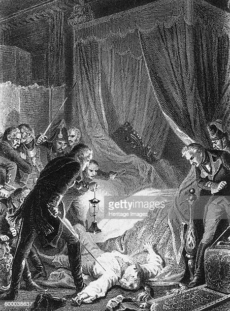 The assassination of Tsar Paul I on March 12 1874 Private Collection Artist Philippoteaux Henri Félix Emmanuel