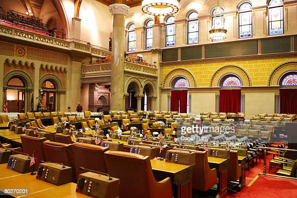 The Assembly Chamber where the swearingin ceremony for David Paterson will take place inside the the New York State Capitol March 16 2008 in Albany...