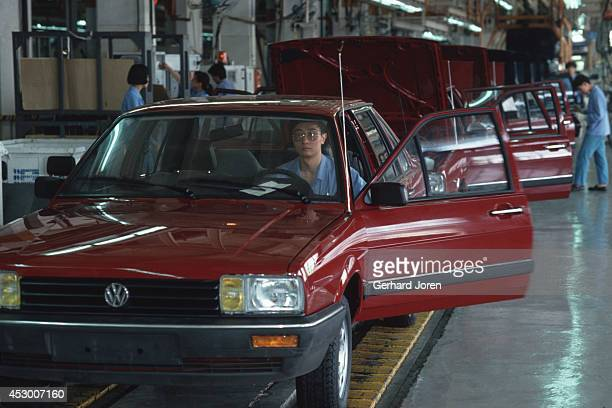 The assembly line at Shanghai Volkswagen Automotive Company Ltd assembly plant Here they produce the Santana model for the local market On September...