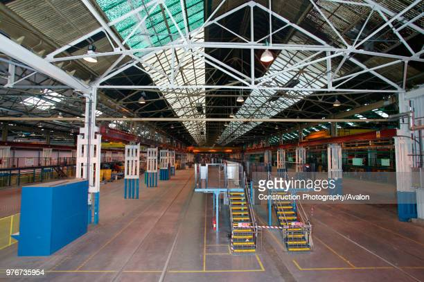 The assembly lines at Alstom's Washwood Heath factory in Birmingham after the last of Virgin's 53 Pendolino's had been completed Monday 8th October...