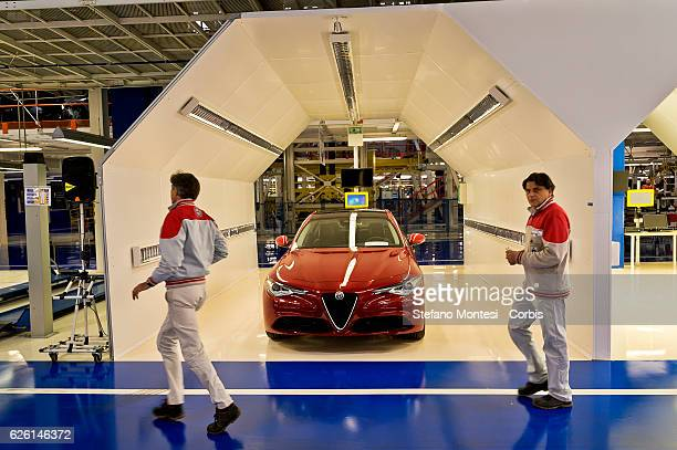 The Assembly Lines where assemble Alfa Romeo Giulia is assembled in the Cassino Assembly Plant FCA Group on November 24 2016 in Cassino Italy In this...