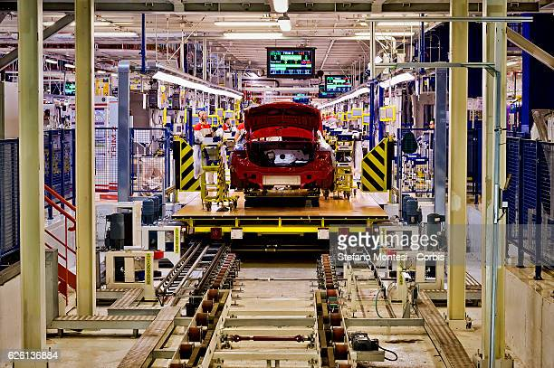 The assembly lines where they assemble the Alfa Romeo Giulia in the Cassino Assembly Plant FCA Group on November 24 2016 in Cassino Italy In this...