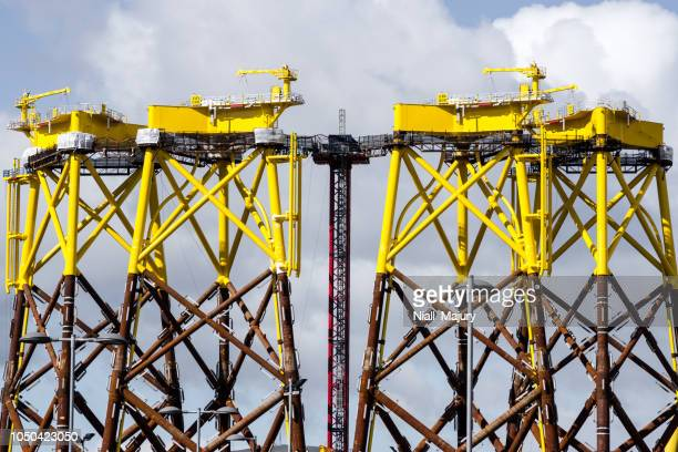 The assembly of platforms in Belfast for the East Anglia ONE offshore wind farm