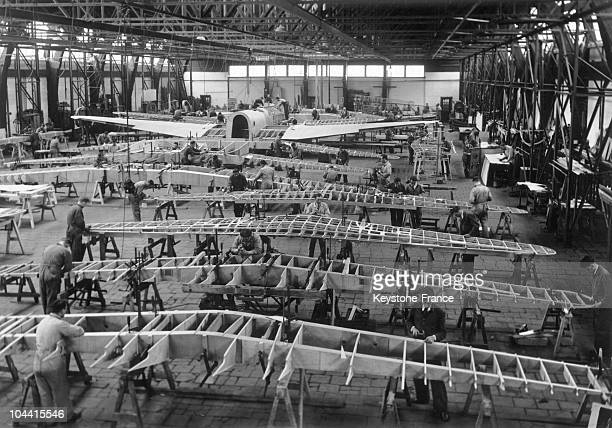 The assembly workrooms in the FOKKER aviation factory in Amsterdam on November 26 1938
