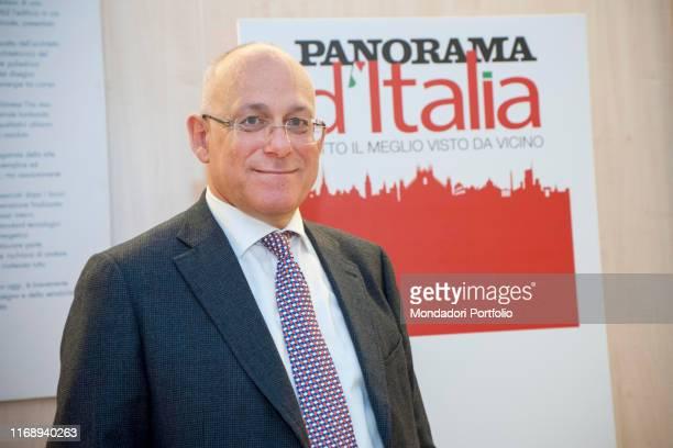 The assessor for Economic Development of Regione Lombardia Mauro Parolini attending the debate Milano motore dellíItalia during the event Panorama...