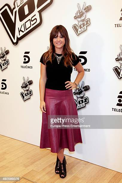 The assistant coach of 'La Voz Kids 2' Vanesa Martin attends photocall on October 13 2015 in Madrid Spain