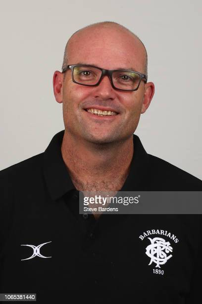 The Assistant Coach of the Barbarians Jacques Nienber poses for a portrait during the Barbarians Squad Photocall at Hilton Park Lane on November 26...