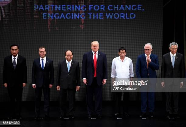 The Association of Southeast Asian Nations members Thailand's Prime Minister Prayut ChanOCha Russian Prime Minister Dmitry Medvedev Vietnam's Prime...