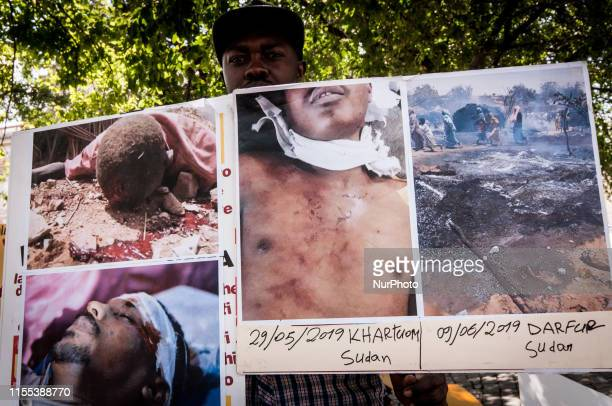 The Association of Sudanese Citizens in Italy Protests in Piazza Esquilino to remember the hundreds of civilian victims caused by the brutal...