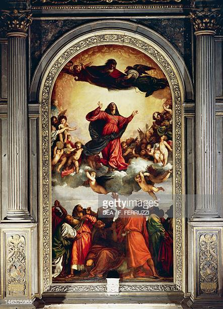The Assumption by Titian oil on panel Church of Santa Maria Gloriosa dei Frari Venice