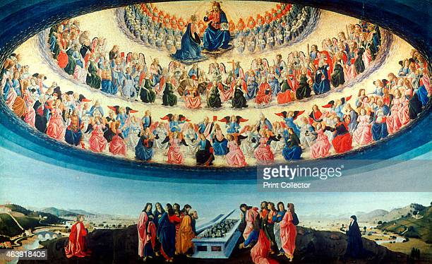 'The Assumption of the Virgin' c14751476 In the foreground the Apostles group around the Virgin's tomb full of Madonna lilies At the top Christ...