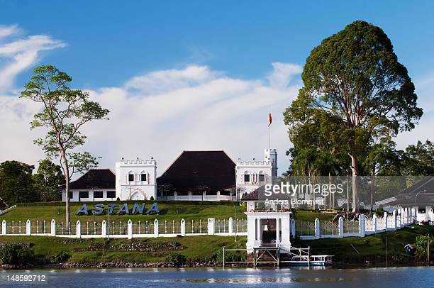 the astana, riverfront home of the sarawak governor. - sarawak state stock pictures, royalty-free photos & images