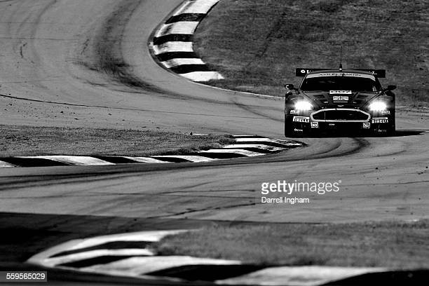 The Aston Martin DBR9 driven by Tomas Enge and Darren Turner during the American Le Mans Series Petit Le Mans at Road Atlanta on September 30, 2006...