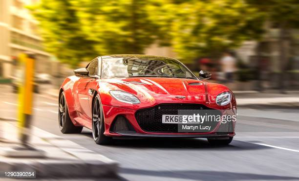 """The Aston Martin DBS Superleggera seen in Knightsbridge, London. The """"DB"""" in """"DBS"""" stands for David Brown, who brought Aston Martin in 1947. It was..."""