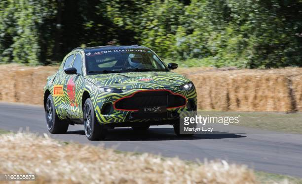 The Aston Martin DBX seen at Goodwood Festival of Speed 2019 on July 4th in Chichester England The annual automotive event is hosted by Lord March at...