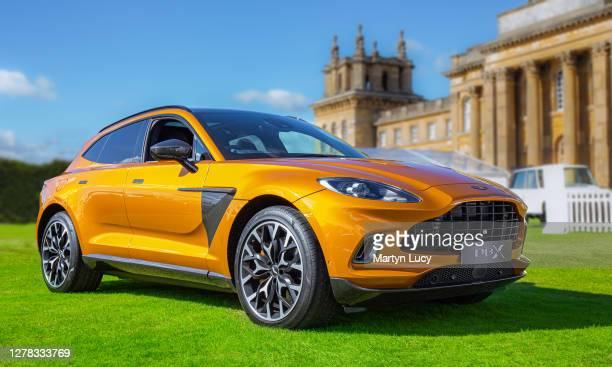 The Aston Martin DBX seen at Salon Prive, held at Blenheim Palace. Each year some of the rarest cars are displayed on the lawns of the palace, in the...