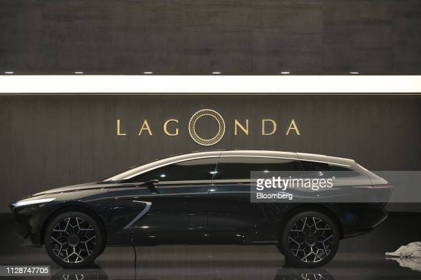 The Aston Martin Lagonda All Terrain concept sportsutility vehicle sits on display on the opening day of the 89th Geneva International Motor Show in...