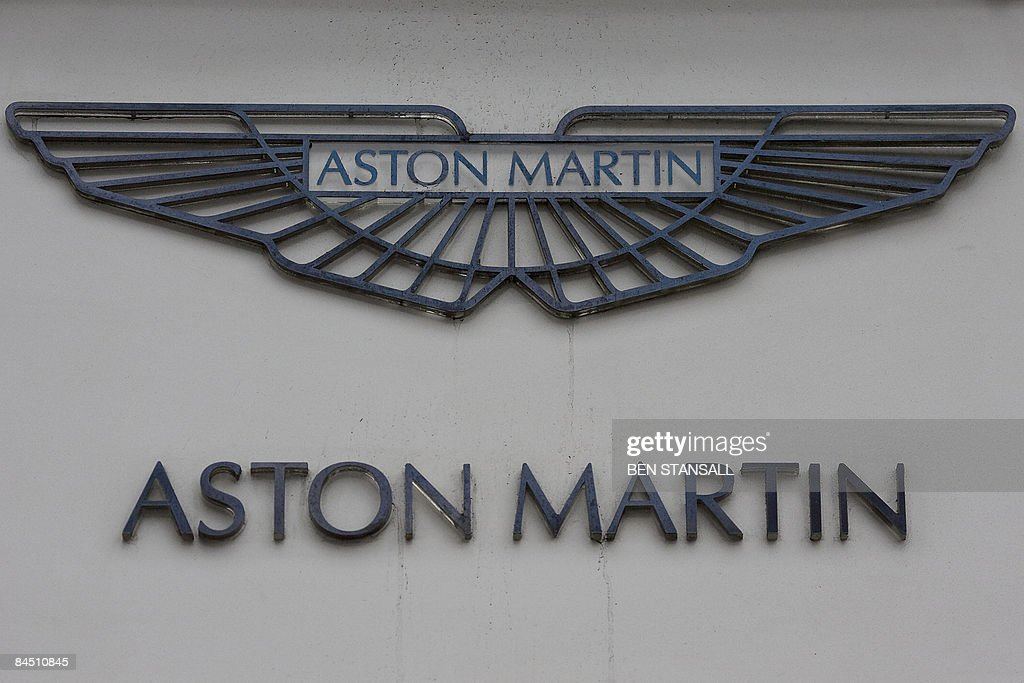 The Aston Martin Logo Is Pictured At A Dealer Store On Park Lane In - Aston martin logo