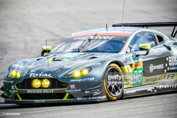 The Aston Martin Racing Aston Martin GT8 Vantage of Marco Sorensen / Nicki Thiim on track during the 6 Hours of SpaFrancorchamps race the second...