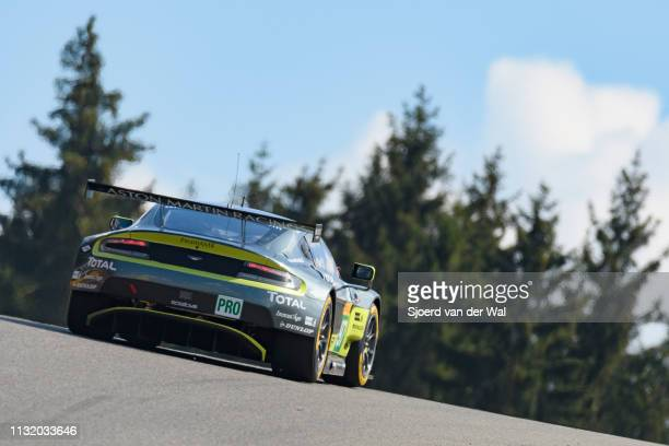 The Aston Martin Racing Aston Martin GT8 Vantage of Richie Stanaway Fernando Rees and Jonathan Adam on track during the 6 Hours of SpaFrancorchamps...