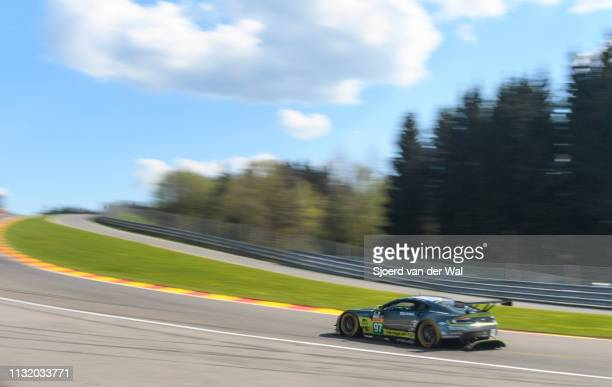 The Aston Martin Racing Aston Martin GT8 Vantage of Richie Stanaway, Fernando Rees and Jonathan Adam on track during the 6 Hours of Spa-Francorchamps...