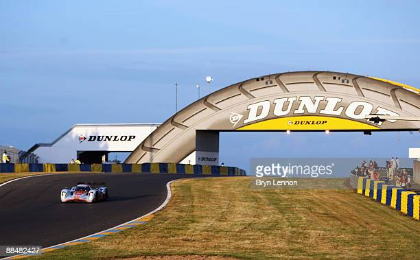 The Aston Martin Racing car of Jos Verstappen of Holland Darren Turner of Great Brtain and Antony Davidson of Great Britain drives during the 77th...