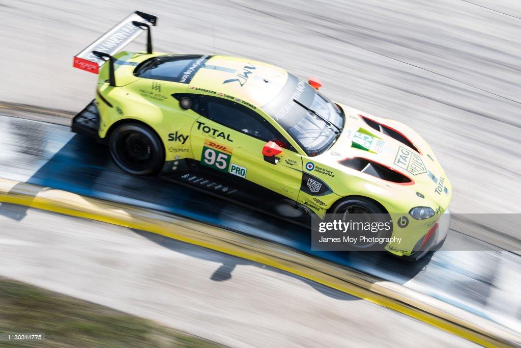 The Aston Martin Racing Vantage AMR of Nicki Thiim, and ...