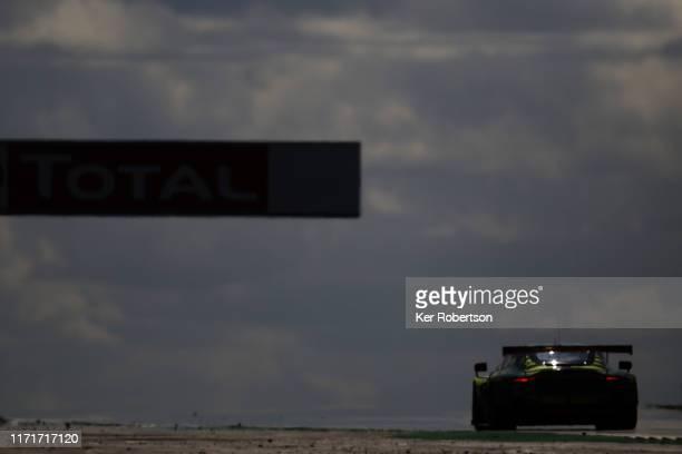 The Aston Martin Racing Vantage of Paul Dalla Lana, Darren Turner and Ross Gunn drives during the FIA World Endurance Championship race at...