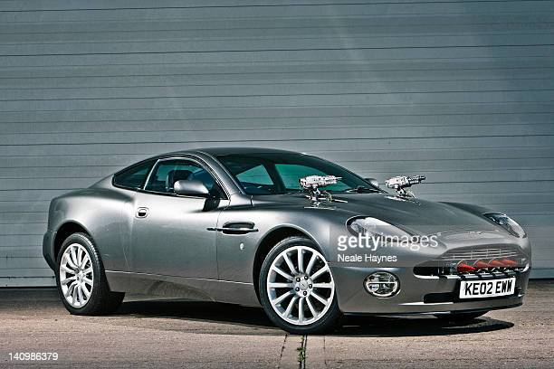 The Aston Martin V12 Vanquish car which appeared in the James Bond movie Die Another Day is photographed for Live Night Day magazine on October 15...