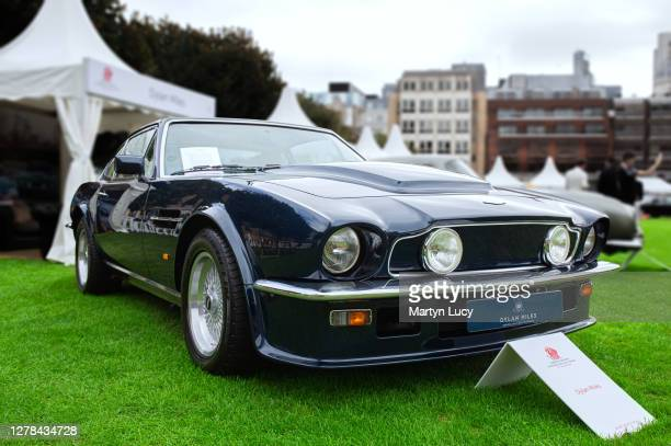 The Aston Martin V8 Vantage seen at London Concours. Each year some of the rarest cars are displayed at the Honourable Artillery Company grounds in...