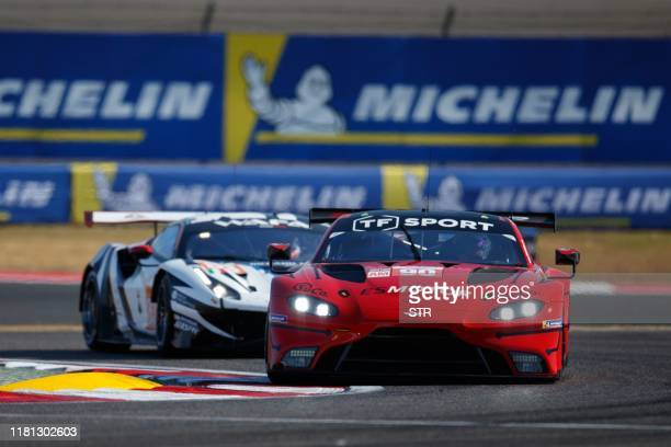 The Aston Martin Vantage AMR of Charles Eastwood, Salih Yoluc and Jonathan Adam takes a corner during the FIA World Endurance Championship 4 Hours of...