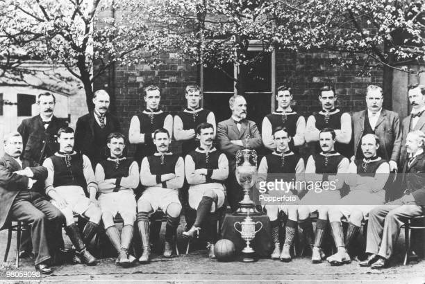 The Aston Villa FC team of 1897 the year in which the team won The Double the League Championship and the FA Cup Back row left to right secretary...