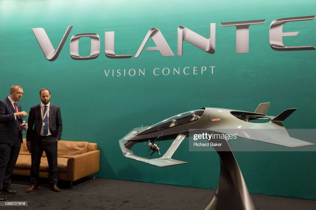The Aston Martin Volonte Concept Plane At The Farnborough Airshow On News Photo Getty Images