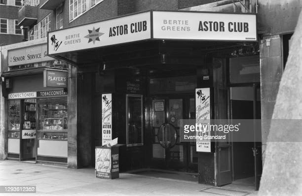 The Astor Club, a nightclub owned by Bertie Green on Fitzmaurice Place and Berkeley Square in Mayfair, London, UK, March 1967.